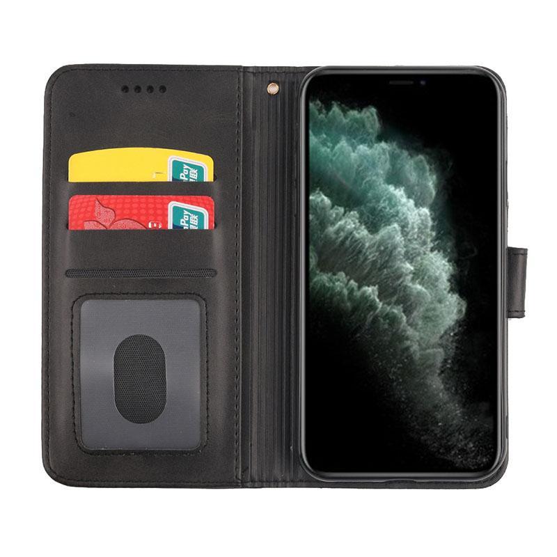 Caja de la carpeta para el iPhone 11 Pro Max XR XS Max Huawei P30 P40 varios colores TPU + PU de cuero de la carpeta del tirón Casos de OPP