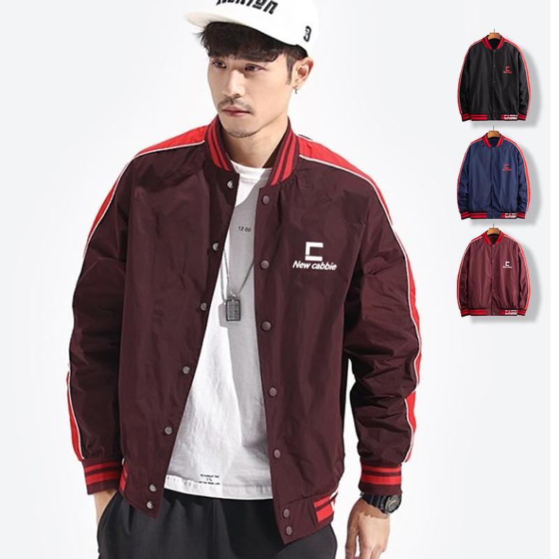 2020 Yeni Moda Beyzbol ceketler Erkekler Standı Yaka Bombacı Ceket İlkbahar Sonbahar Erkek Slim Fit Streetwear Coat chaqueta Hombre