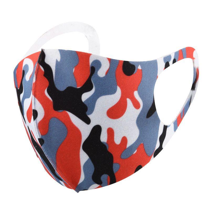 Anti-poeira Máscaras vento camuflagem Cara do leopardo Boca Máscara lavável respirável exterior Cyling K2j4