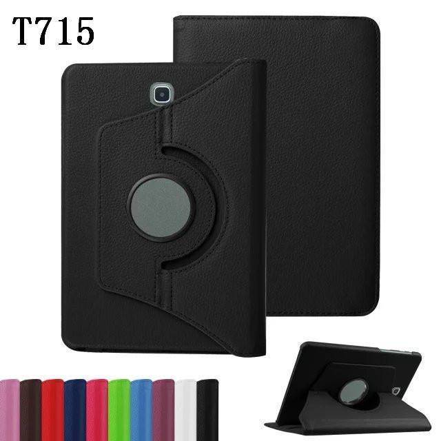 360 градусов вращающийся Pu кожаный чехол для Samsung Galaxy Tabs 8 +0,4 T700 / T715 Tabs2 8