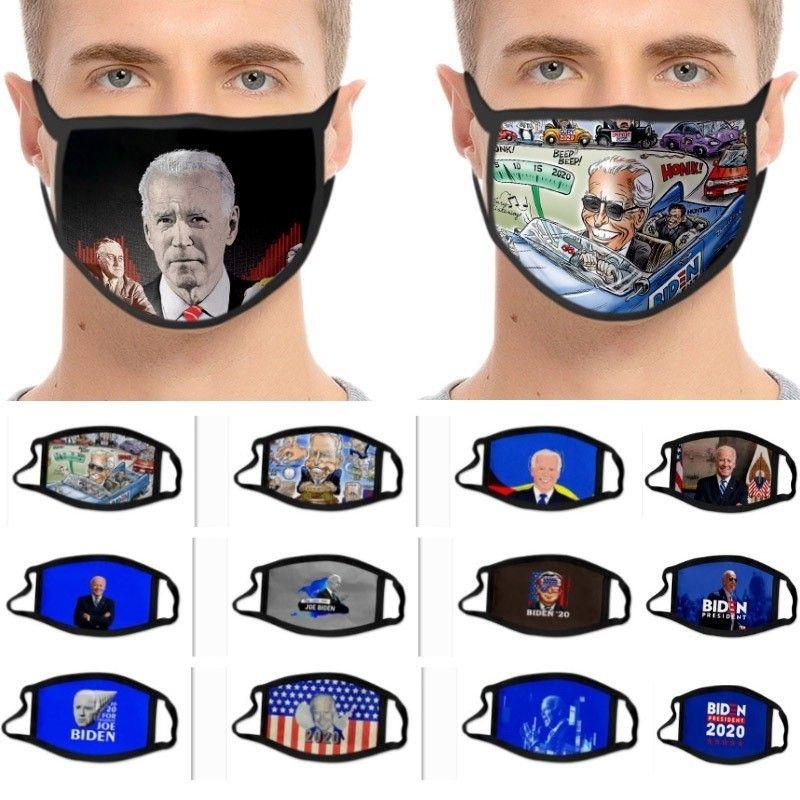 14 Máscara Estilo Biden Campaña Presidencial EE.UU. máscara a prueba de polvo 3D Impreso hielo tela de seda EWC920