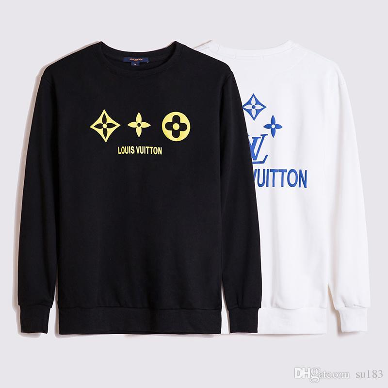 Para hombre blanca del diseñador del suéter con capucha de los hombres de las mujeres del suéter de manga larga con capucha suéter sudaderas Streetwear Moda Sweatershirt