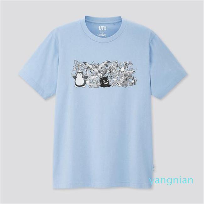 Venta caliente 2020 UT camisas nuevos amantes sirven las mujeres ocasionales de manga corta camiseta Pokeman Sesame Street L ropa de moda camisetas camiseta outwear
