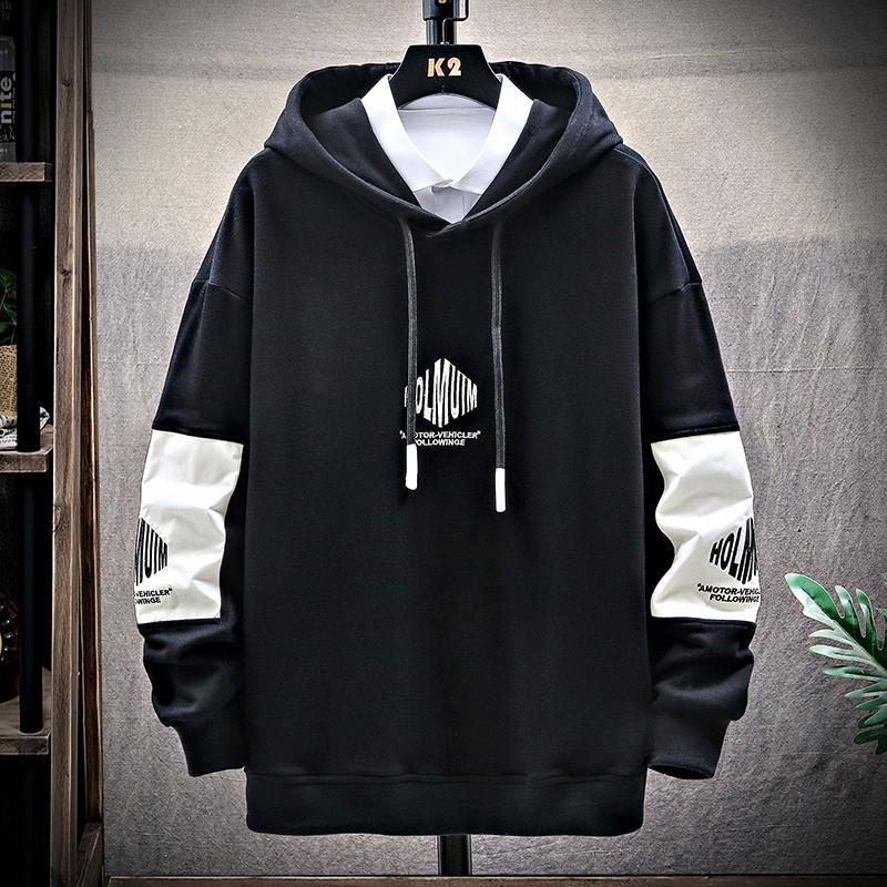HlWIm с капюшоном свитер случайные мужские осенние тенденции Топ SweaterCoat sweatercoat балахон свитер свитер сыпучих мужской топ новый DCwIE