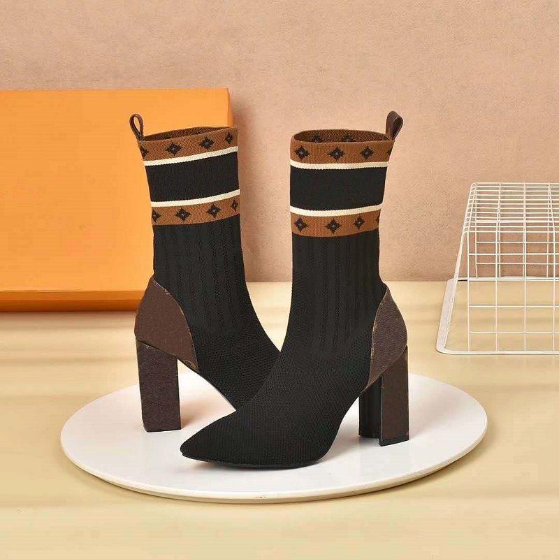 Classics Exquisite Leder Frauen Stiefel High Heels und echte Im Freien Mode Stiefel martin Booties Cowboy b04 L2