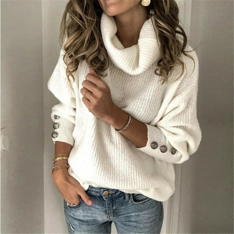 겨울 여성 패션 스웨터 캐시미어 터틀넥 청키 니트 풀오버 솔리드 컬러 스웨터 점퍼 플러스 사이즈를 따뜻하게 따뜻하게