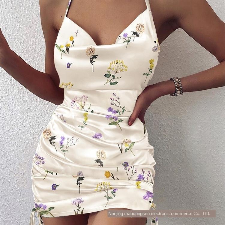 GhDOK CU-0511 Новых слинга подтяка юбки печатных груди обернутых тонкого CU-0511 Новое слинг Suspender юбка платья напечатанного груди завернутых тонкого платье
