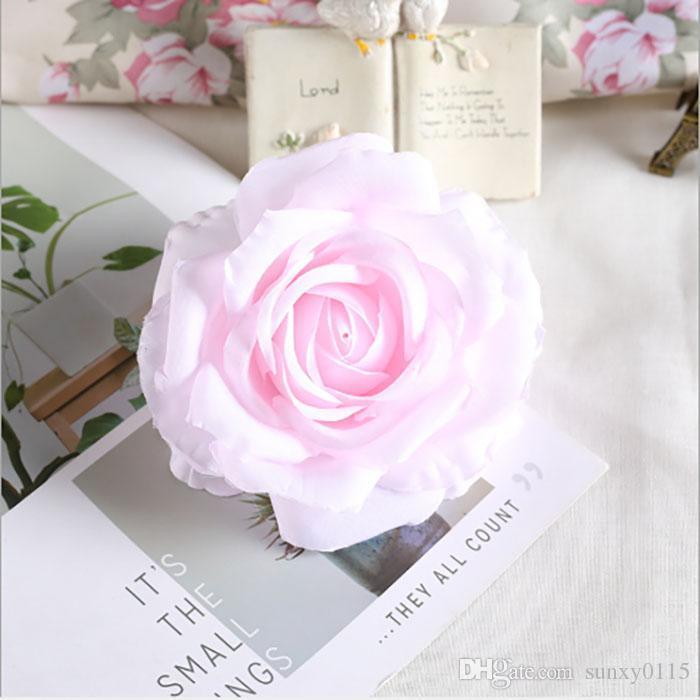 Die neue 10 cm-Kunstseide-Rose Blüte für Hochzeits-Dekoration-Blumen-Wand Diy Rose Wholesale freien Verschiffen