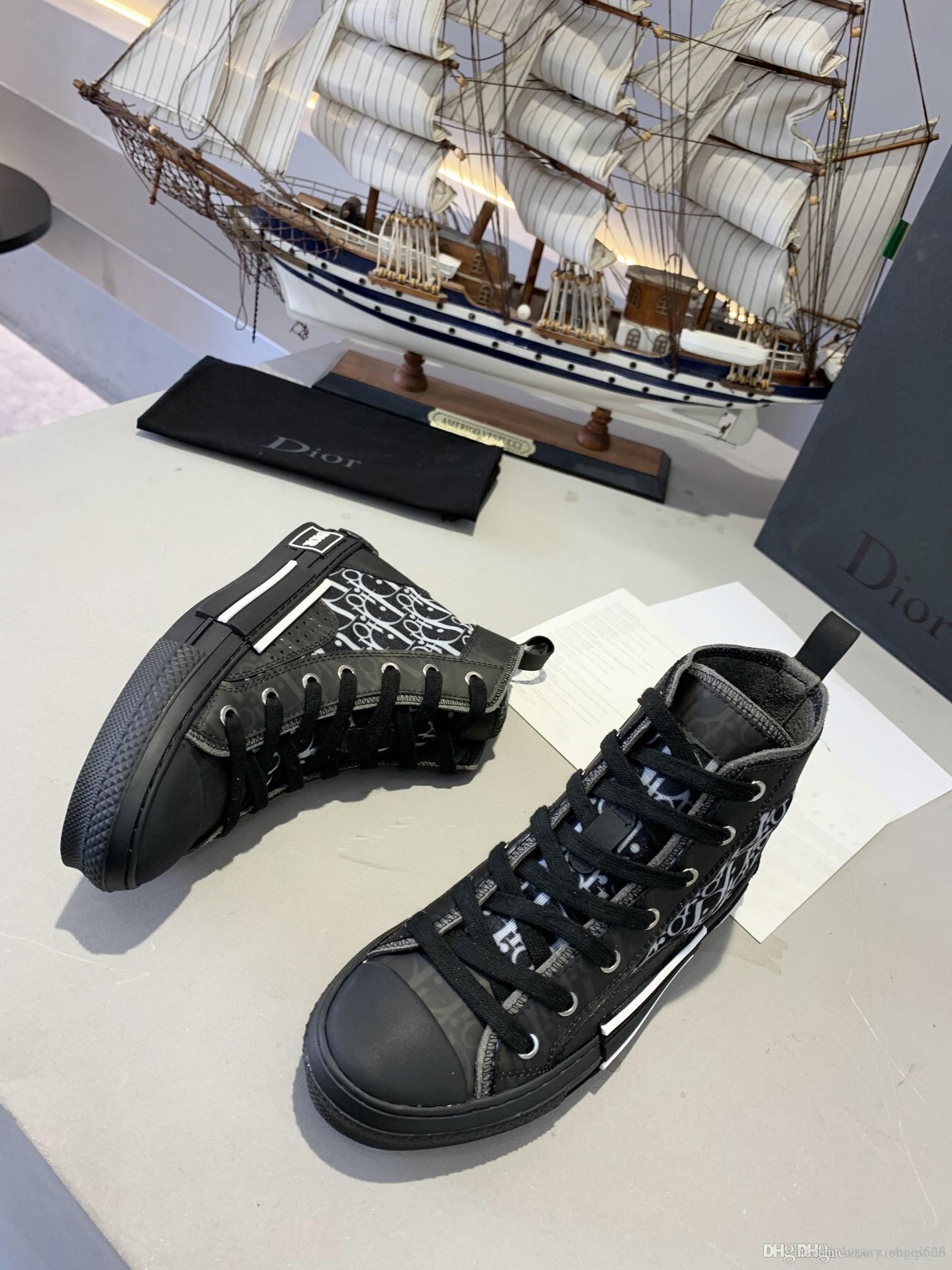 2020 billig Luxus-Designer-Freizeitschuhe billige Paar Herrenmodelle high-top Schuhe der Frauen der Männer arbeiten Turnschuhen Gürtel boxAA