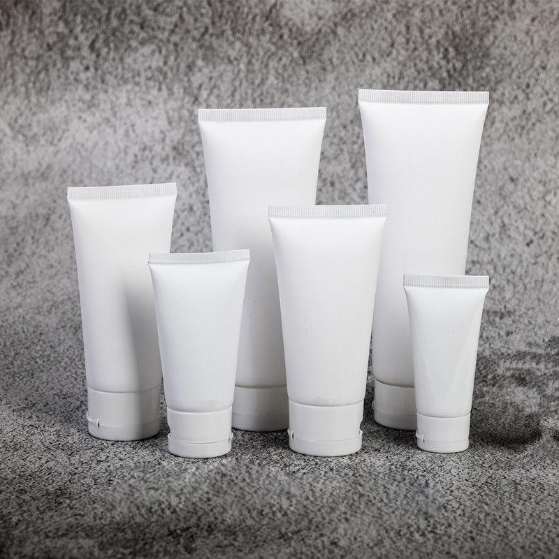 Skin Care Cosméticos mangueira Tubo Facial Cleanser Hand Cream emulsão macia Garrafa Maquiagem Amostra frasco plástico fosco