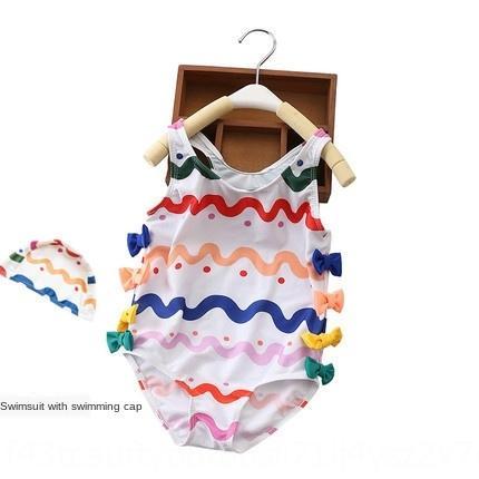 Traje de baño de Ridge del diseño del arco de una sola pieza de las muchachas de los niños del traje de baño traje de baño Zhong Xiao Tong niña bebé traje de baño de2dZ