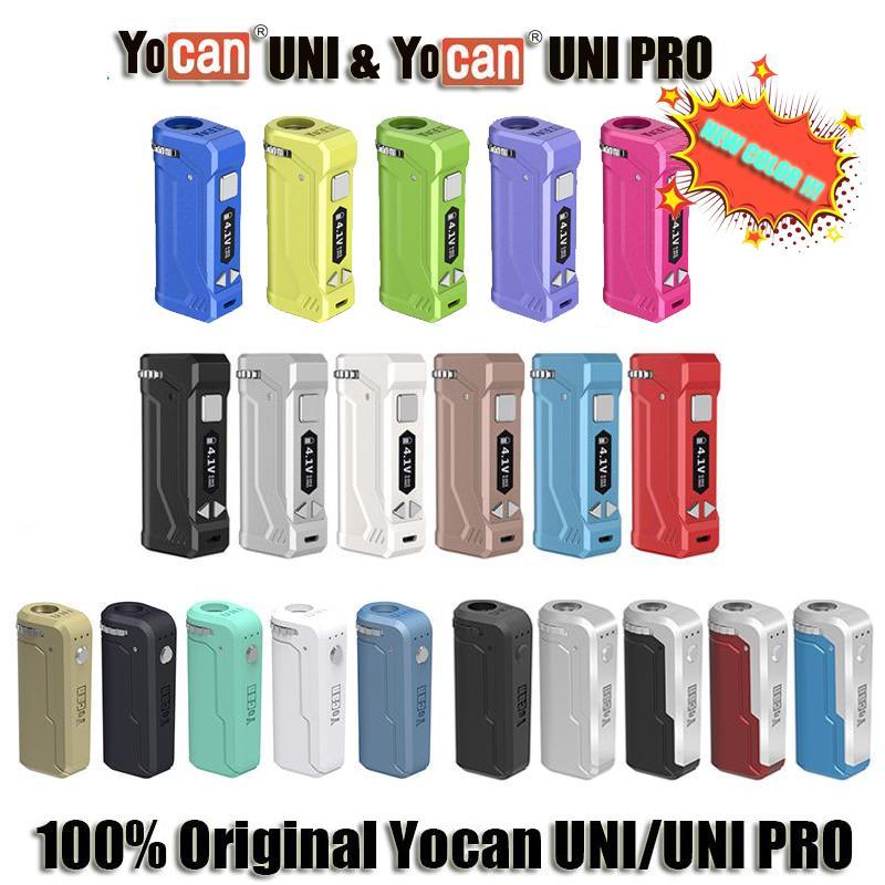 Оригинальный Yocan UNI Pro Vape Box Mod Kit 650mA Разогреть Variable В.В. 2.0V 4.2V Аккумулятор E сигареты Vape Pen Fit All Vape картридж на складе