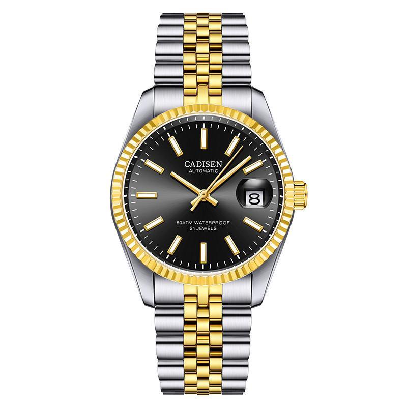 Mayforest uomini meccanici della vigilanza superiore di marca di lusso orologio automatico business in acciaio inox impermeabile della vigilanza degli uomini Relogio Masculino