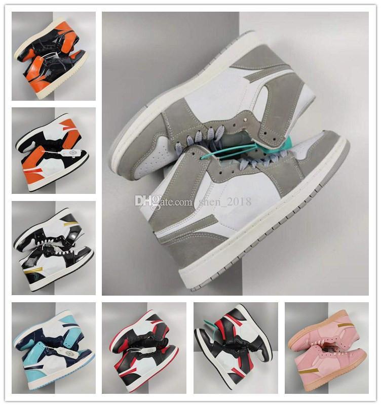 Classic 1s skateboard scarpe sportive per uomo donna alta Top OG Sneakers Moda in pelle di moda lace-up scarpe casual formatori 36-44
