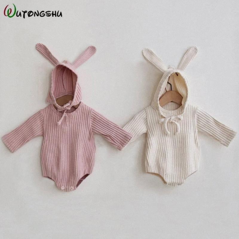 Детская одежда девушки Romper младенца Весна Одежда для новорожденных с длинным рукавом Мальчики Комбинезон Девочка Infant Onesie Костюм YRTa #