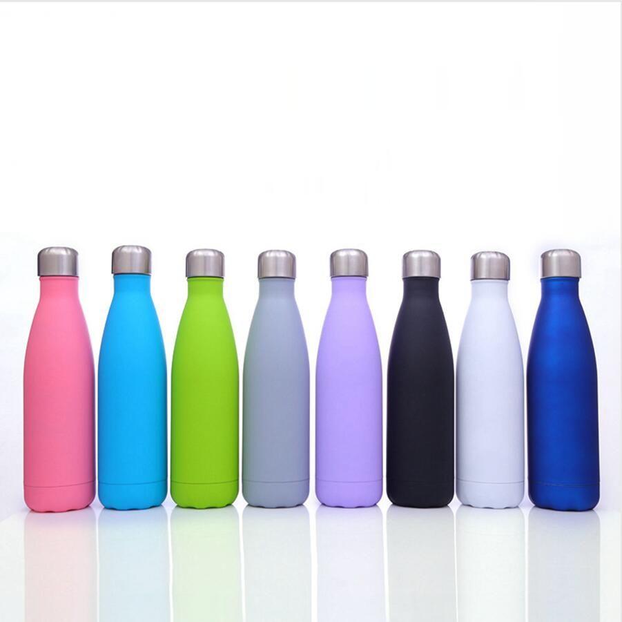 17 Unzen Cola-Form-Becher-Edelstahl-Doppelwand-Wasserflasche Vacuum Insulated im Freien beweglichen Sport Kessel Sea Shipping DDA369