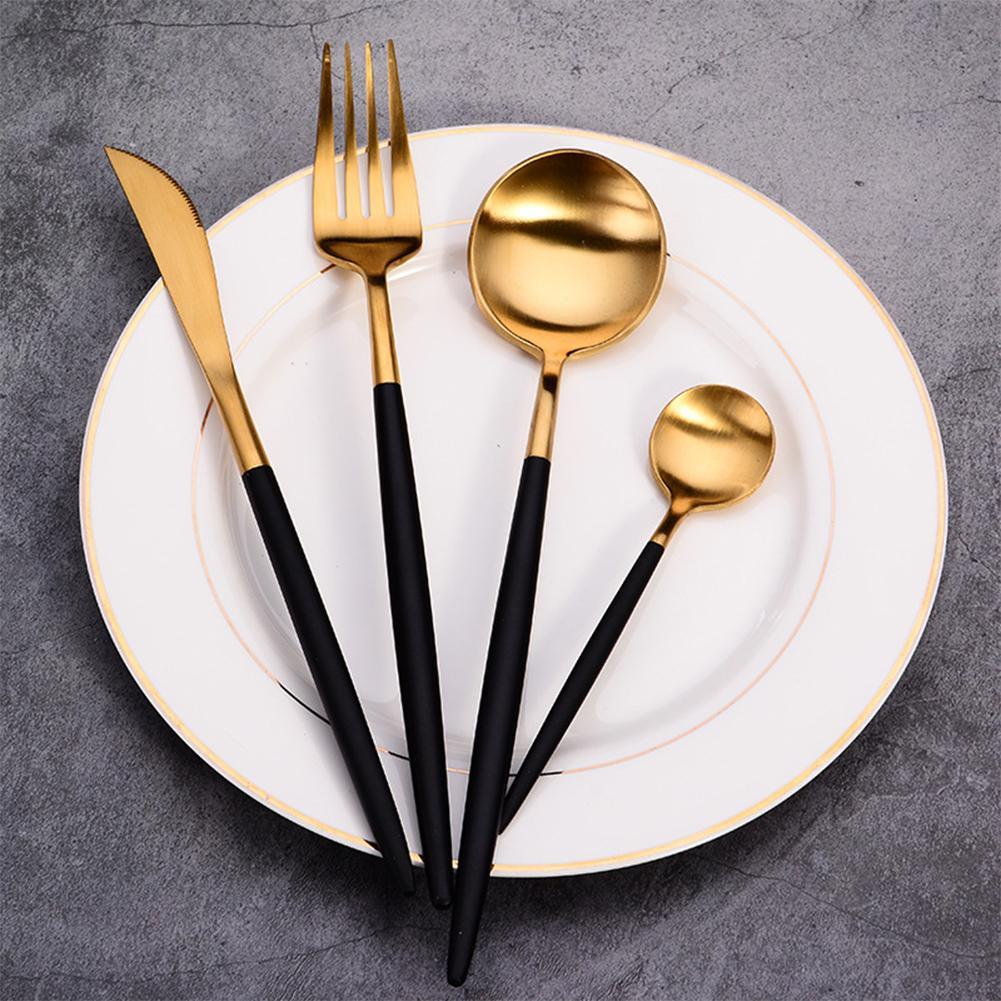 Yemek Aracı Paslanmaz Çelik Lüks Aksesuarları Gıda Seti bulaşığı
