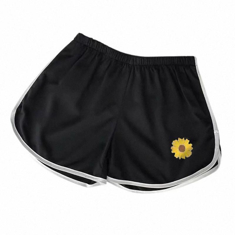 Yoga Sport Casual Run Shorts Femmes d'été Respirant Tournesol Sports entraînement occasionnel court ZDyi n