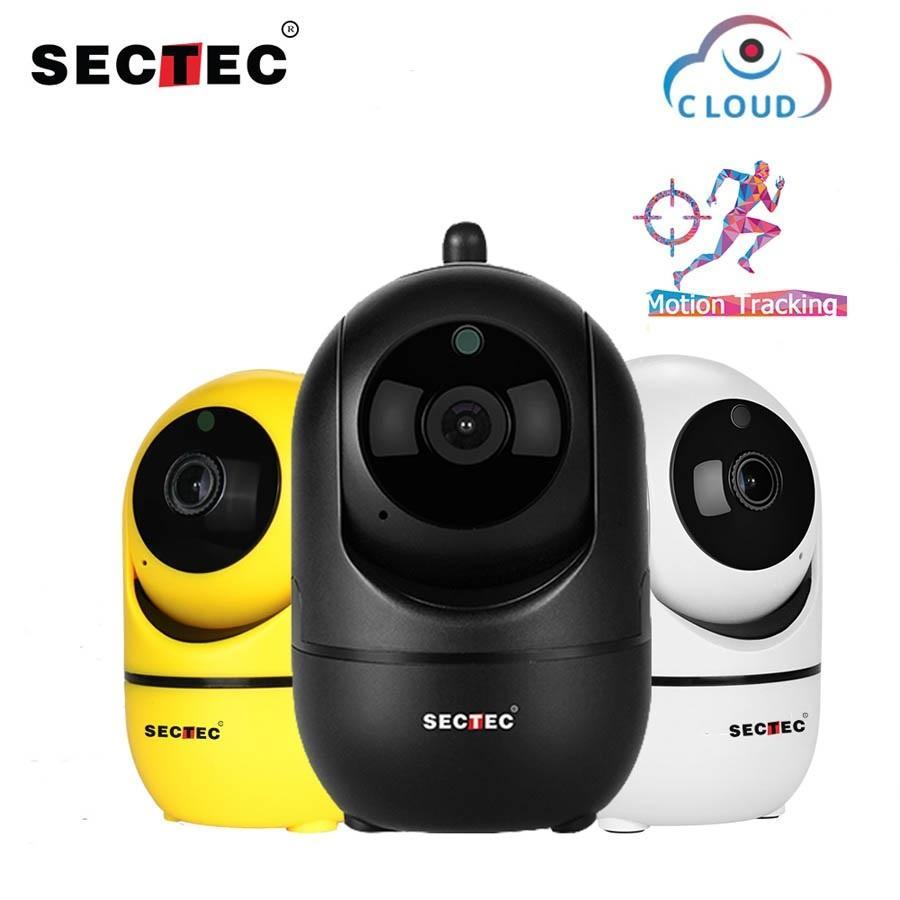 Sectec WiFi IP Camera 1080p Cloud Wireless Ai Inteligente Rastreamento Night Vision Home Security Surveillance Monitor de bebê CCTV YCC365 Pio