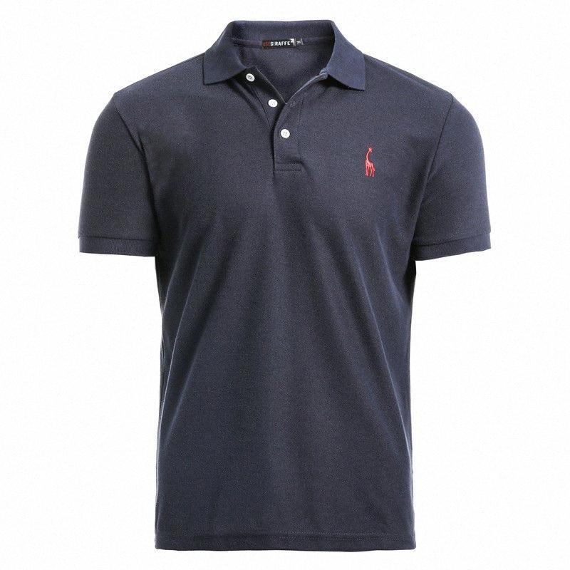 Новый человек Рубашка Mens вскользь Deer вышивки хлопка рубашки мужчин с коротким рукавом мужской yyxq #
