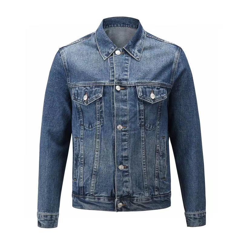 Высокое качество мужчины денима куртка моды мужчин случайные плотно облегающей джинсовой размер куртки куртки S XL