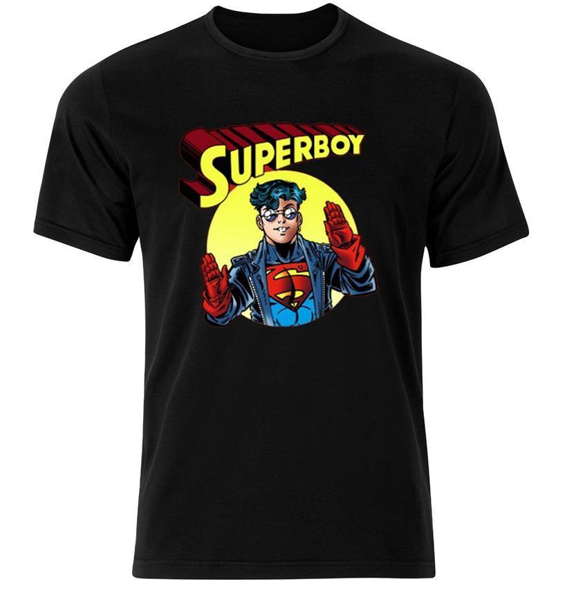 Engraçado Superboy Character T-shirt preto - Disponível M L XL Nova Unisex engraçado Tops Camiseta