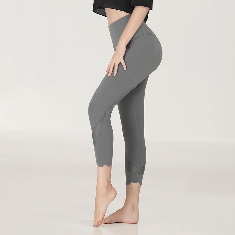 nueve puntos de melocotón cadera fina deportivos Tight deportes de yoga pantalones ajustados nuevas mujeres de yoga que se ejecutan los pantalones de ejercicio