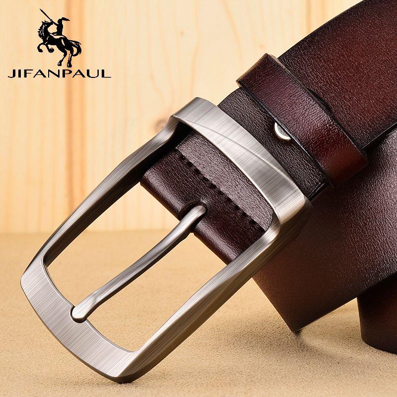 Jifanpaul Мужская Бизнес ретро сплава способа Материал пряжкой с Трендовые джинсы Студенты высокого качества пояса Бесплатная доставка