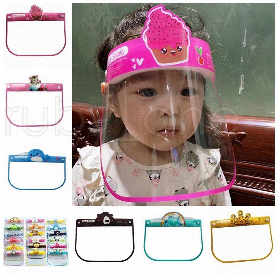 L'isolamento dei bambini di sicurezza Visiera trasparente del fumetto dei capretti Head Cover Anti Fog Splashing Full Face protettivo trasparente Maschere Designer JiHx #