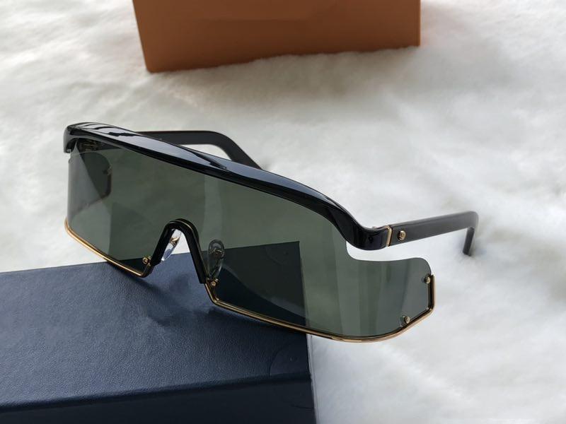 2020 Солнцезащитные очки Крупногабаритные Wrap Стиль Преувеличение Дизайнер очки Плоский свет и очки UV400 объектива Верхнее качество с футляром