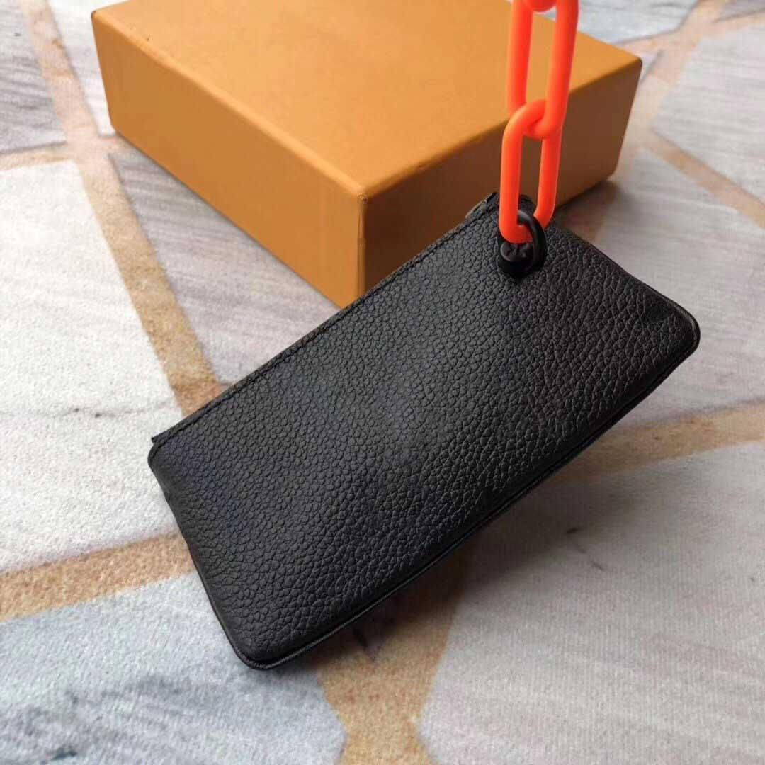 diseñador de los hombres Monedero señoras de las mujeres de cuero de la cartera del monedero de las carpetas bolsa de la moneda cadenas principales de diseño de lujo cartera Accesorios mini pochette