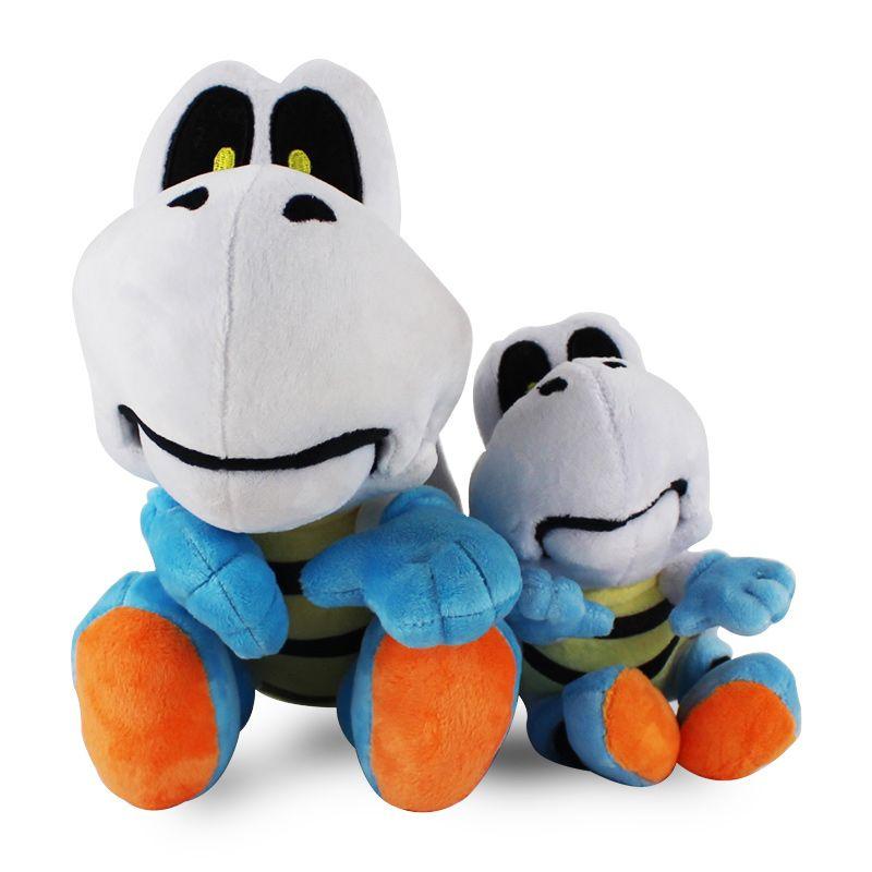 2pcs / set presente Animal dos desenhos animados Super Mario Bros Plush Dry Bones Plush Toys Stuffed Plush Doll Toy bebê para Crianças