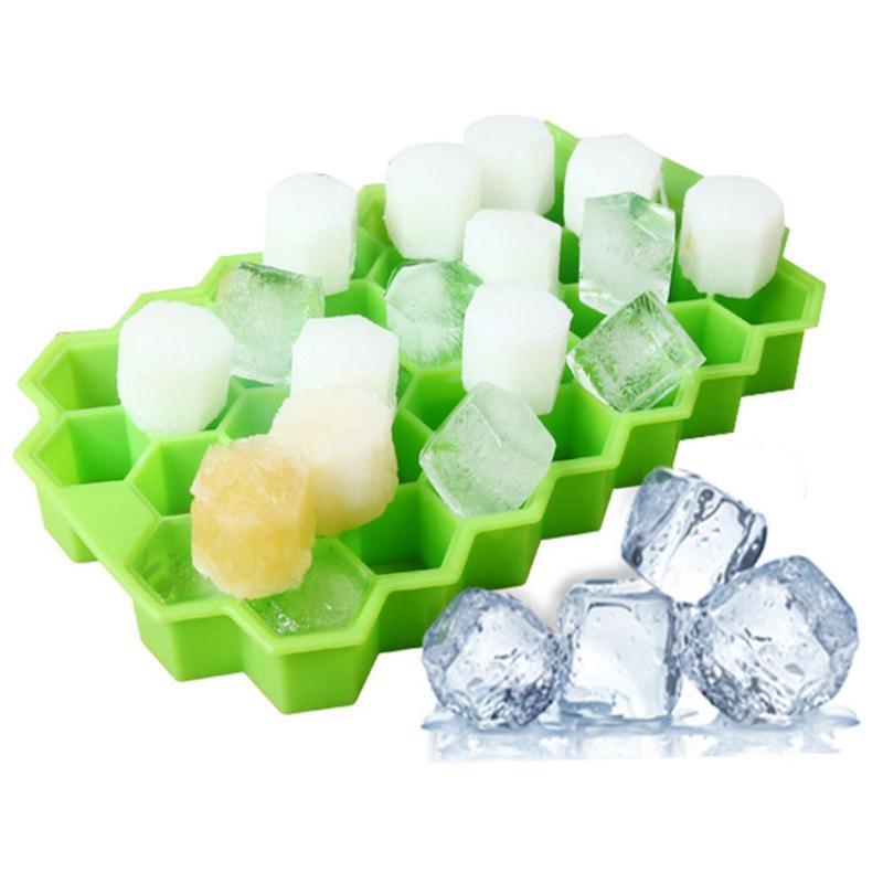 Yaratıcı İstiflenebilir Ice Cube Tepsi 37 Küpleri DIY Petek Ice Cube Ray Kalıp Dondurma Partisi Whisky Soğuk İçecek Bar Soğuk İçecek Araçları VT1508