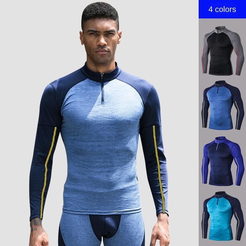 Hiver hommes d'aérobic à manches longues Pro Tight Ultra-Stretch sport camouflage course rapide séchage des vêtements 91504