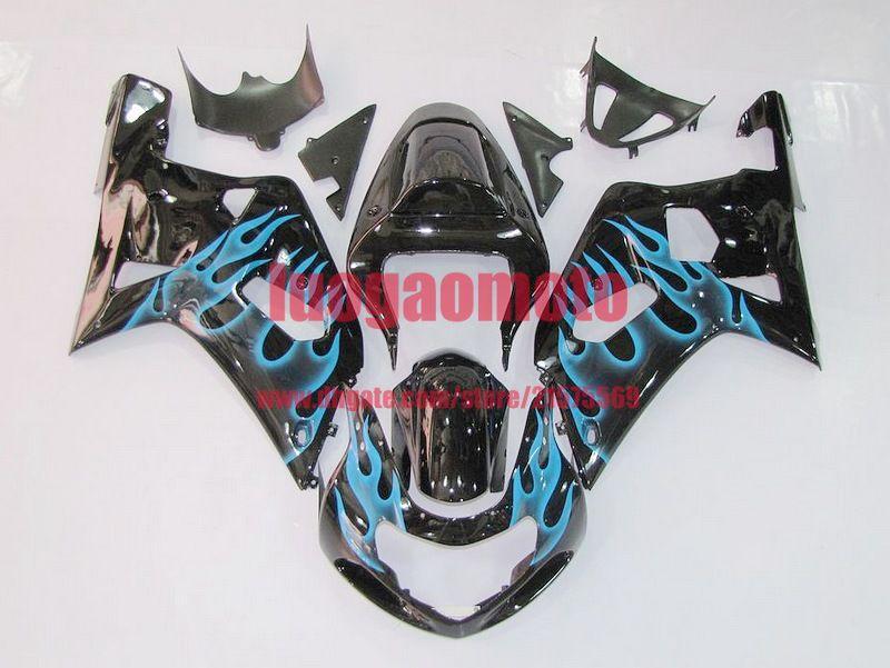 Kit carenti ad iniezione per Black Green Suzuki GSXR 600 GSXR750 2001 2002 2003 GSXR600 GSXR 750 K1 K2 Bodywork GSXR750 600 01-02-03 Kit per il corpo
