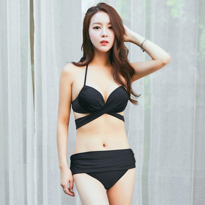 gxygM знаменитости Интернет сбора сексуальный купальник бикини женщин раскол купальник бикини горячий источник joPuD размер груди шнуровке высокой талии