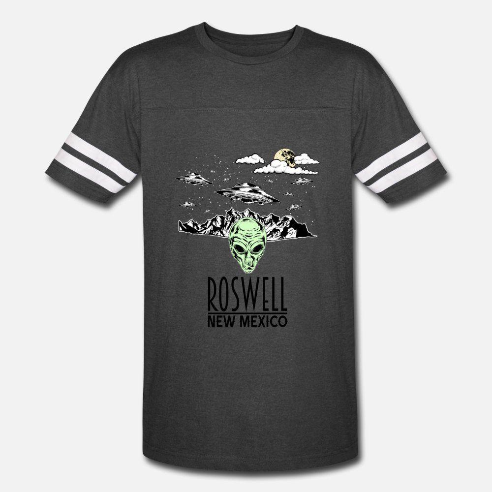 Roswell New Mexiko Alien-Verschwörung Ufo Männer T-Shirt Entwerfen Baumwolle Größe S-3XL Kleidung Geschenk Grund Frühlings-Herbst-Buchstaben Hemd