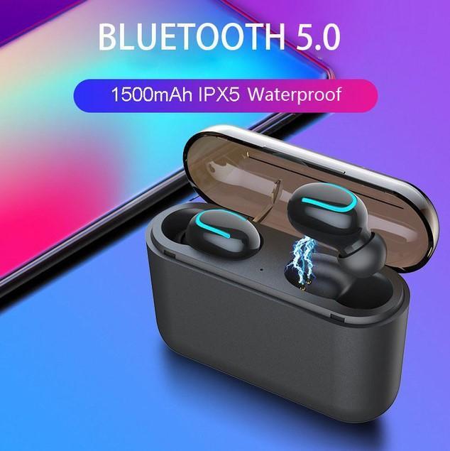 cgjxs Bluetooth гарнитур 5 +0,0 бинауральных Беспроводная стерео Bluetooth гарнитуры Спортивных TWS С Mobile Power Многофункционального Voice Call Music Play НКА