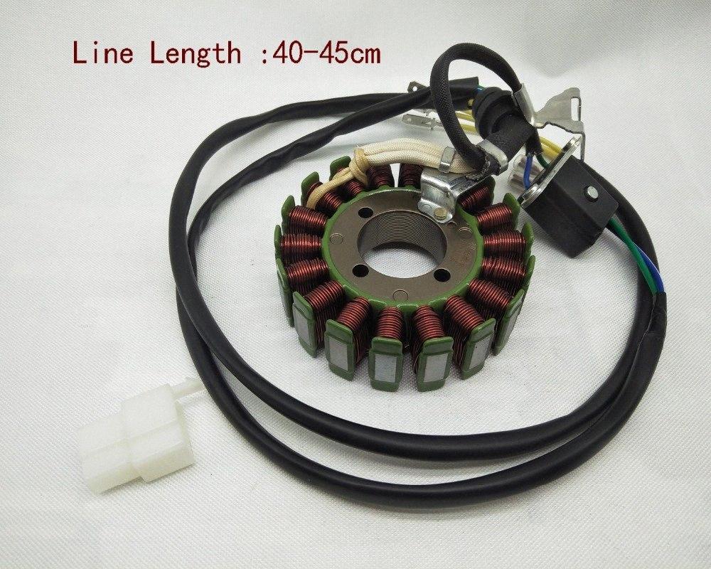 A22 Moto 5 filo 18 Poli 200W bobina di accensione Magneto bobina statore Assy generatore per CG125 CG 125 raffreddato ad acqua motore kEvK #