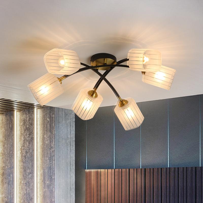 Современный минималистский гостиной потолок освещает современный роскошь свет гостиной спальни дома медную лампу черный