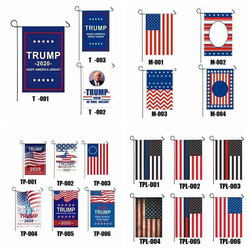 Presidente Donald Trump 2020 Bandera Hacer mantenernos América grande solo lado de Estados Unidos Elección exteriores de decoración de jardín Banner Banderas 120pcs CCA12419