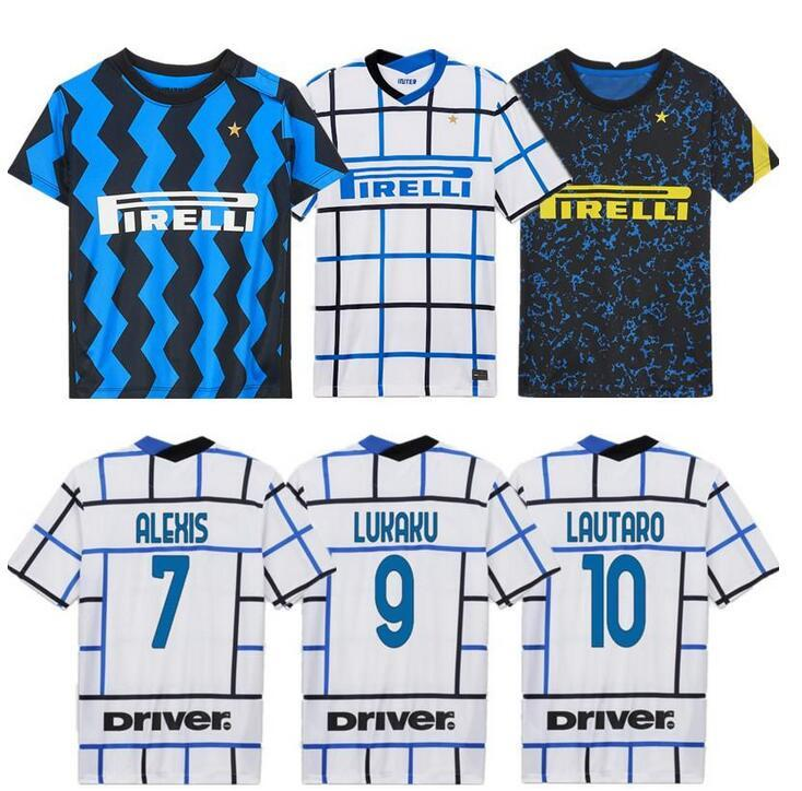 Nouveau Jersey Thaïlande Lukaku Alexis de 2020 2021 Milano Shirts Maillot de Football Jerseys