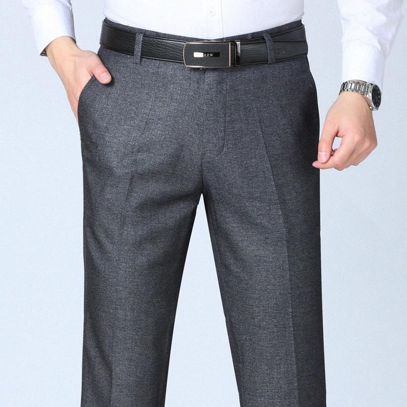 Erkekler Suit Pantolon Bahar ve Yaz Erkek Giydirme Pantalon homme İş Ofisi Büyük Boy Klasik Pantolon Biçimsel Erkek Suit Pant SG8f #
