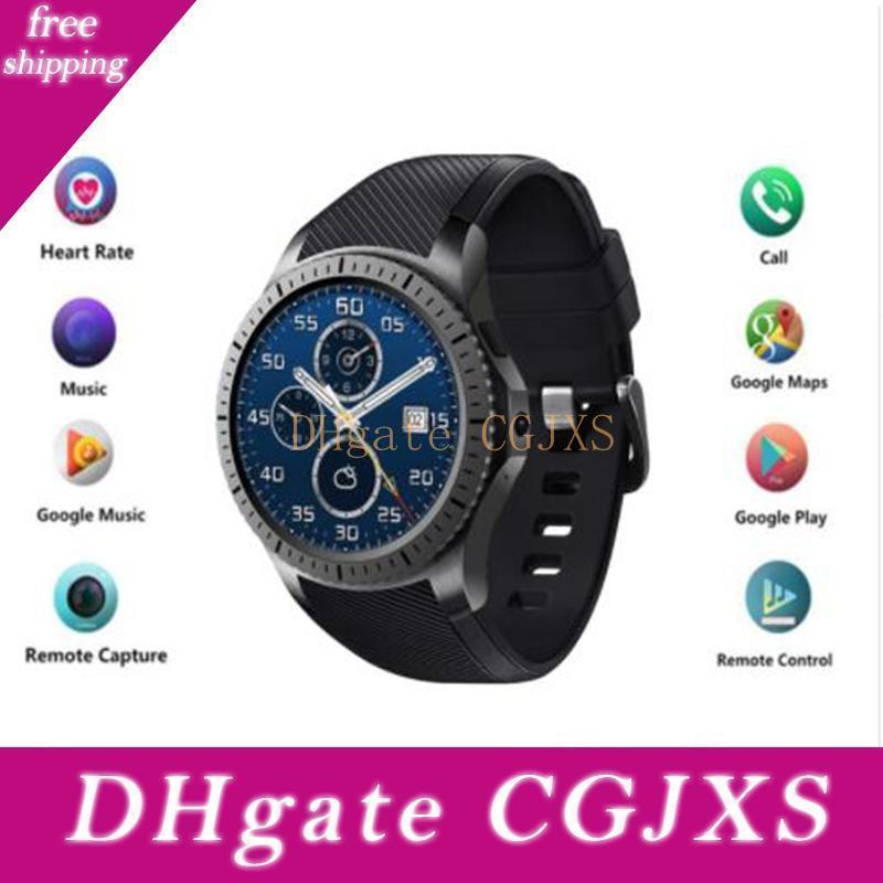 Круглый Смарт Часы Часы Gw10d Поддержка Bluetooth Wifi 2g / 3g Android 5 +0,1 Фитнес Tracker Heart Rate SmartWatch Pk Samsung Gear S3