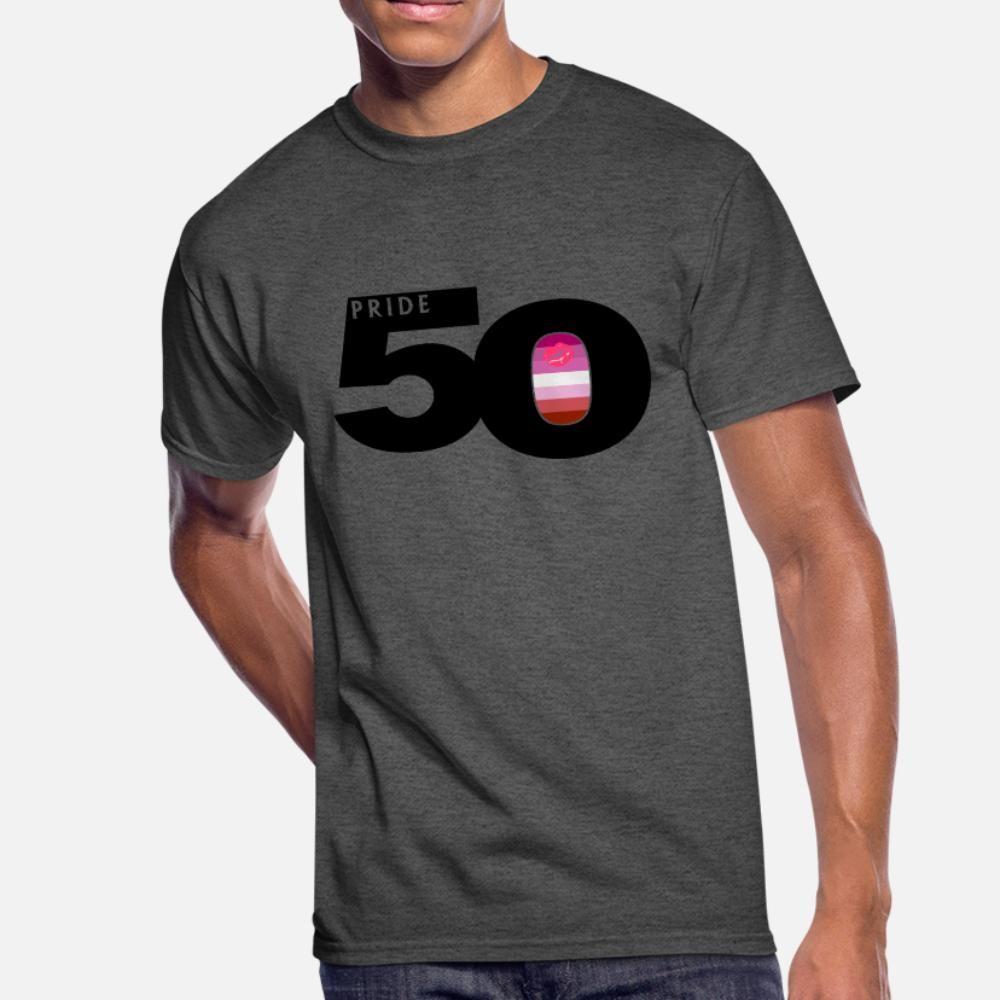 50 Fierté Lipstick hommes t-shirt lesbienne Drapeau Fierté Tricoté 100% coton ronde de vêtements de printemps Manchette authentique chemise mince