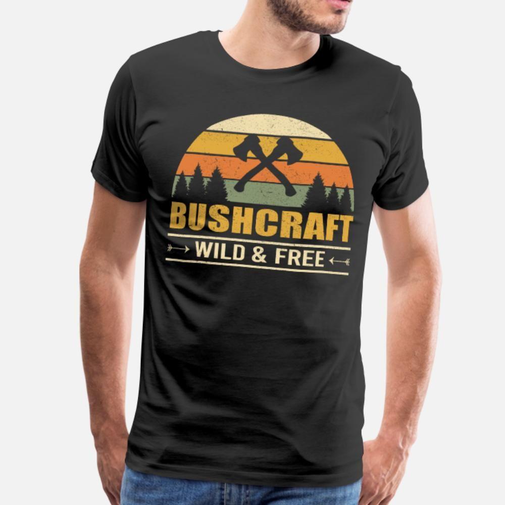 ormanda rahat yaşayabilme hüneri vahşi ve özgür t gömlek erkekler Tasarım Kısa Kollu S-XXXL Trend Grafik Mizah yaz Yenilik gömlek