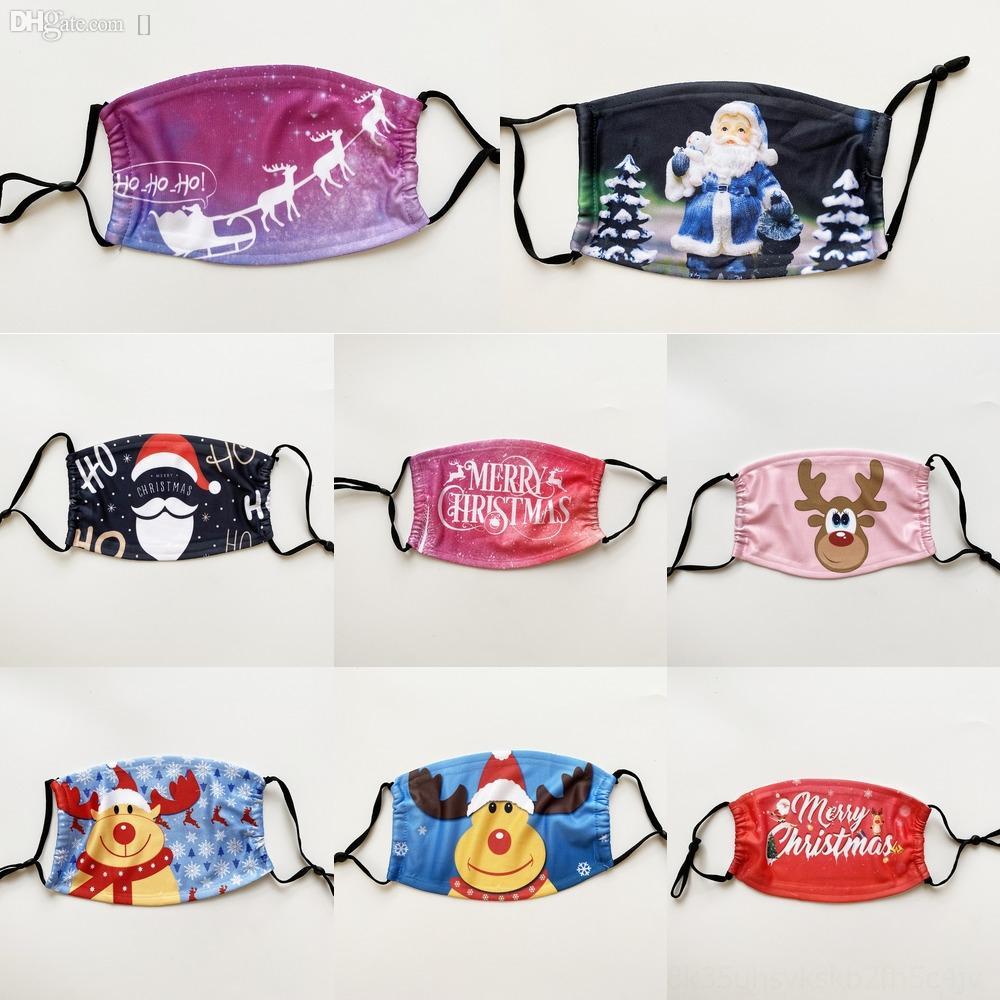zVCgE Maschera Maschera di Natale Moda Cordino con sveglia corda del fumetto di protezione antipolvere di Natale Hanging Maschere del collo per i bambini Bambini