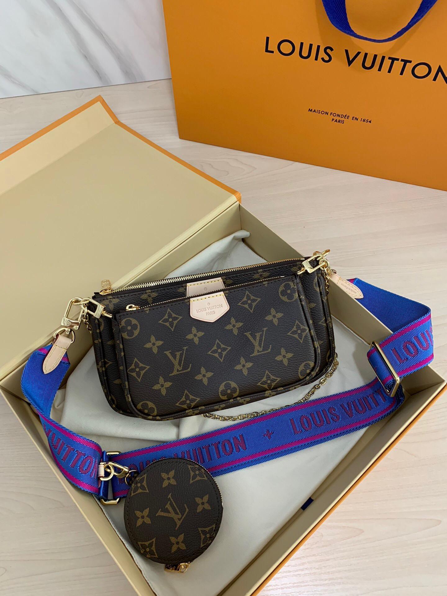 2020 جديد مصمم أزياء الساخن بيع أحدث جودة عالية حقيبة المرأة MULTI POCHETTTE ACCESSORIES مع أكياس مربع حقيبة متربة لطيف حار بيع A014