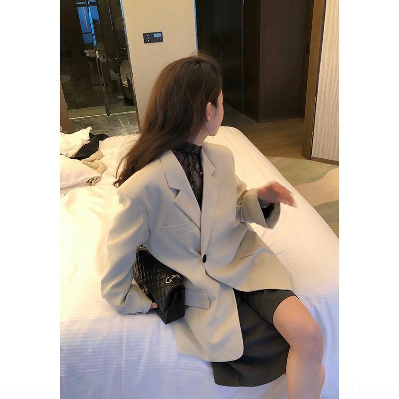 y6Nix Mantel Buddha * Flughafen Billy Anzug Nische Frauen Design Sinn Mantel koreanische Art lose beiläufige Klage oben