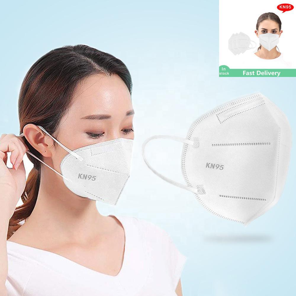 Bireysel Sarılmış KN95 Maskeleri Dokunmamış Tek Kullanımlık Katlanır Yüz Maskesi